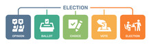 Election Icon Set. Political Democracy Concept.
