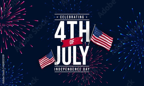 Tablou Canvas United States Independence Day Background Design. Fourth of July.