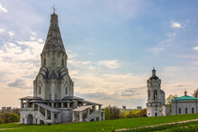 Buildings Are Complex Museum Kolomenskoye, Moscow, Russia. UNESCO World Heritage Site