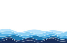 Water Wave Sea Blue Lines River Flowing Texture Background Banner Vector