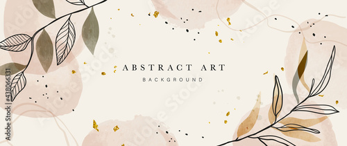 Tableau sur Toile Abstract art botanical background vector