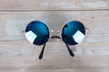 A Pair Of Round Sunglasses