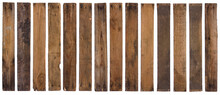 Vintage Old Wooden Planks Isolated On White Background.