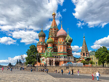 St. Basil's Cathedral - The Main Church Of Red Square And All Of Moscow