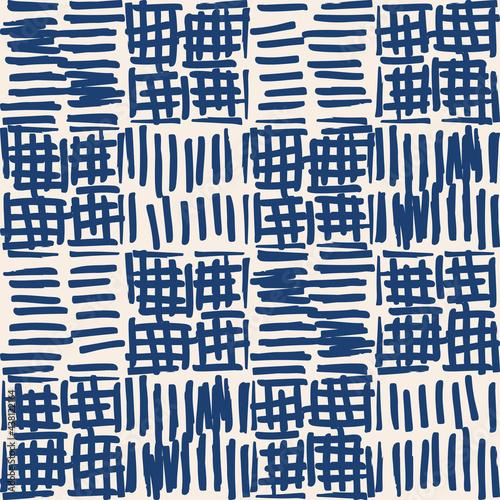 Tapety Japońskie  indygo-krawat-barwnik-shibori-wektor-wzor-minimalistyczne-geometryczne-powtorzenia-plytek-orientalnych-w-kolorze-granatowym-i-zlamanej-bieli-organiczne-tekstury-japonski-tradycyjny-druk