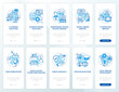 Society evolution onboarding mobile app page screen with concepts set. Social change walkthrough 5 steps graphic instructions. UI, UX, GUI vector template with linear color illustrations