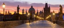 PRAGUE, CZECH REPUBLIC - OCTOBER 15, 2018: The Charles Bridge In The Morning.