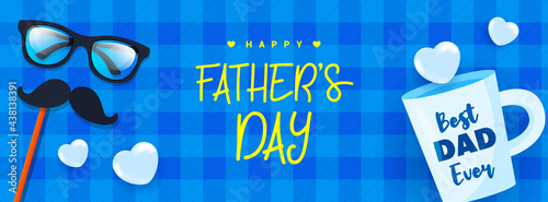 Canvas-taulu Happy Father's Day Banner Vector illustration