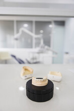 Jaw Casts On Table In Modern Hospital