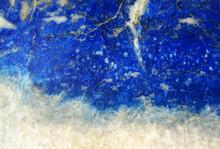 Lapis Lazuli Natural Background Closeup, Blue Texture For Design