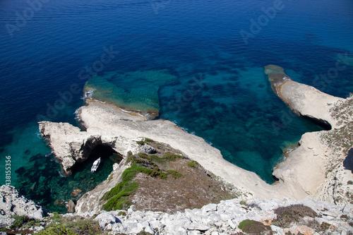 Bonifacio, Corse, plaisance dans les falaises Fototapet