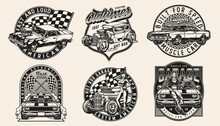 Custom American Retro Cars Vintage Badges