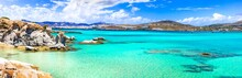 Greece Sea And Best Beaches. Paros Island. Cyclades. Kolimbithres -famous And Beautiful Beach In Naoussa Bay