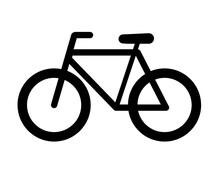 Bicycle Icon Isolated On White Background