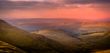 Sunset Over The Welsh Mountains