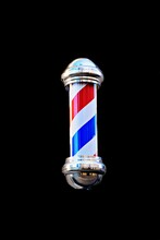 Barber Shop Pole Isolated