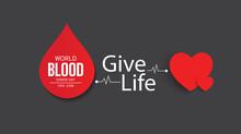 World Blood Donor Day. Vector Illustration Design