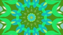 Green Kaleidoscope Elegant Landing Page Website