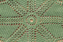 Beautiful Closeup Crochet Doily On Old Wooden Background
