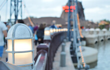 Cute Lamp On The Bridge Of Orlando Disney Springs, Florida, USA