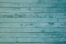 Aquamarine Painted Wooden Wall Background