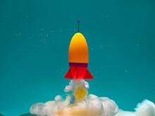 Conceptual Rocket Taking Off