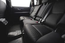 Clean Black Cloth Car Back Seats