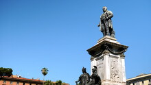 Monument Dedicated To Camillo Benso Di Cavour In The Homonymous Roman Square With Statues At The Base And A Statue Of The Statesman On Top. Made For The 25th Anniversary Of The Liberation Of Rome