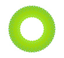 Abstract Green Circular Pattern From Planes. 3d Rendering Image.