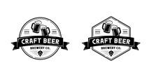 Vintage Beer Brewery Logo. Badge, Label, Emblem Design Inspiration Template