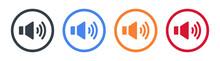 Speaker Sound Vector Icon In Modern Design. Vector Illustration