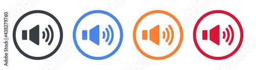 Fotografie, Obraz Speaker sound vector icon in modern design. vector illustration