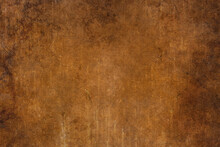 Grunge Coffee Brown Distressed Background, Old Paper Textured Layout Of Light Center And Dark Vignette Edges, Old Warm Autumn Background, Grain Illustration Backdrop