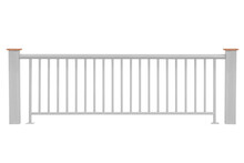 Steel Railing Isolated On A White Background