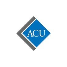 ACU Letter Logo Design On White Background. ACU Creative Initials Letter Logo Concept. ACU Letter Design.