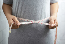 Obese Woman Needs Weight Control, She Has Excess Fat.