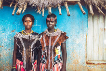 Beautiful Women Of Banna Tribe Wearing Authentic Clothes And Acc