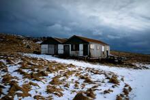 Shabby Shack On Snowy Hill