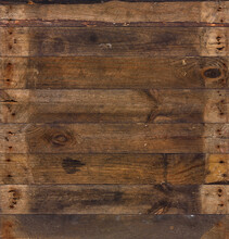 Old Barn Wood Background Texture. Vintage Weathered Rough Planks With Rusty Nails.