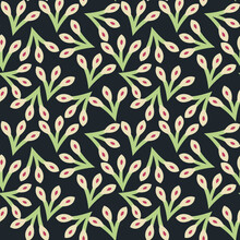 All Over Seamless Floral Flowers Pattern On Background