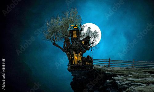 Obraz na plátně halloween night scene