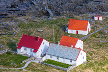 Old Lighthouse Keepers House On The Coast At Norway