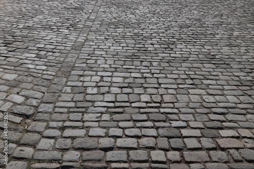 Carta da parati Cobblestone street, Nuremberg stone pavement