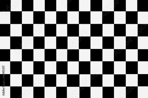 White and black checkered ceramic tiles pattern and background seamless Fototapet