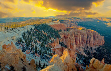 Landscape View Of Bryce Canyon National Park In Utah, USA
