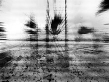 Dirty Grunge Abstract Background, Black And White Halftone Empty Blank Backdrop