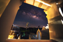 Milky Way And Art In Thai Temples