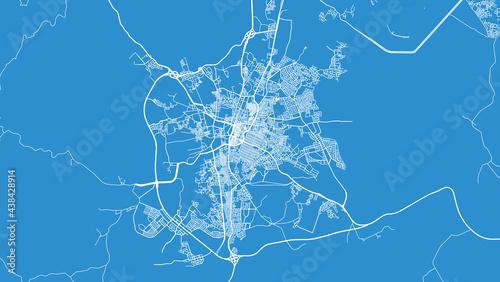 Canvas Print Urban vector city map of Ta'if, Saudi Arabia, Middle East