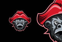 Skull Goat Head Gaming Mascot Logo Template