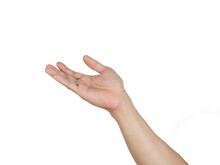 Man Right Hand White Isolated White Background